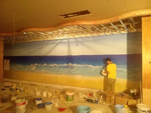 3D壁画,3D立体画,3D地画,手绘壁画,墙绘