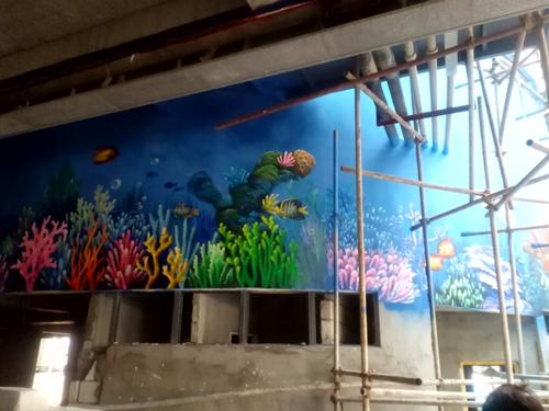 2014-11-26 深圳-中潛潜水世界3D壁画案例