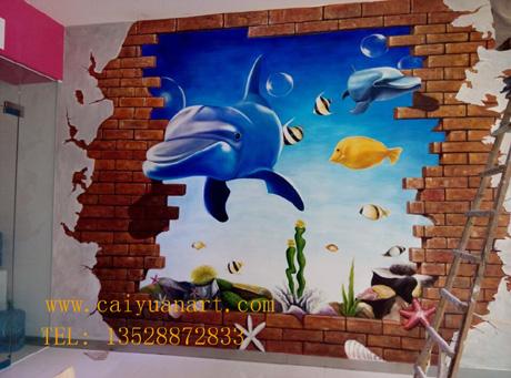 2014-06-01 深圳儿童天地3D壁画案例