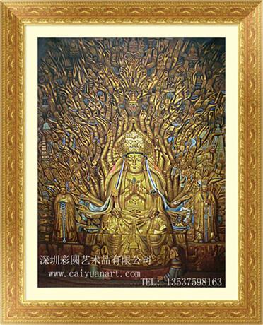 深圳手绘佛像,深圳3D壁画,3D立体画,墙体彩绘,油画,装饰画