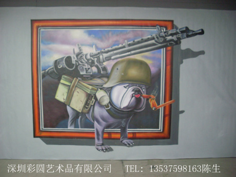 3D壁画,深圳3D壁画地画